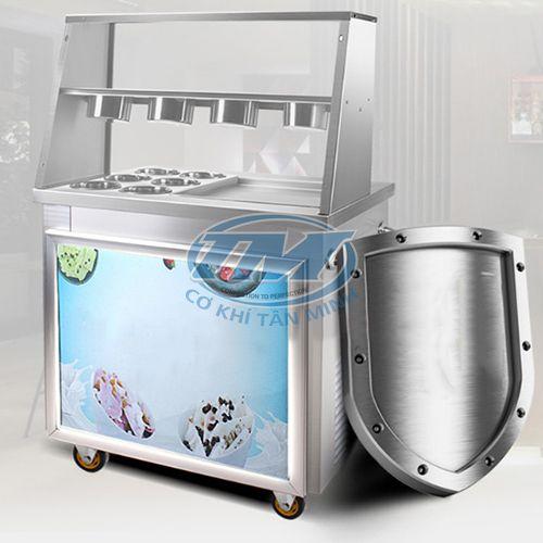 Máy làm kem cuộn chảo vuông (TMTP-PA22)