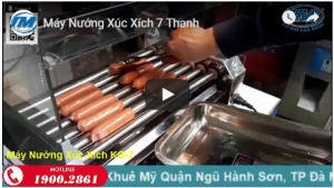 Video: Máy nướng xúc xích 7 thanh