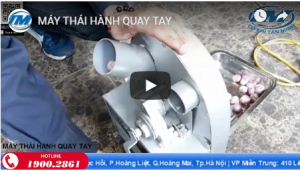 Video: Máy thái hành quay tay