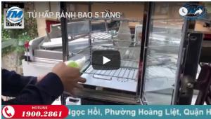 Video: Tủ hấp bánh bao 5 tầng