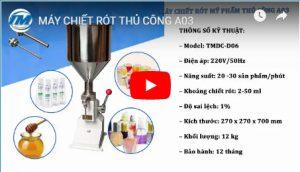 Video: Máy chiết rót thủ công A03