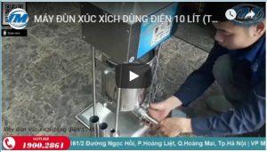 Video: Máy đùn xúc xích dùng điện 10 lít (TMTP-G08)