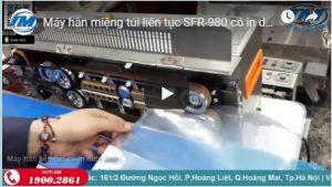 Video: Máy hàn miệng túi liên tục SFR-980 có in date