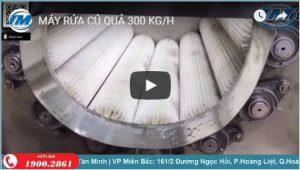 Video: Máy rửa củ quả 300 kg/h