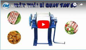 Video: Máy thái bì quay tay