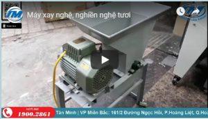VIdeo: Máy xay nghệ. nghiền nghệ tươi