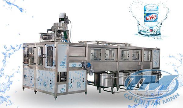 Dây chuyền chiết rót bình nước tự động QGF-600 (TMKM-K14)