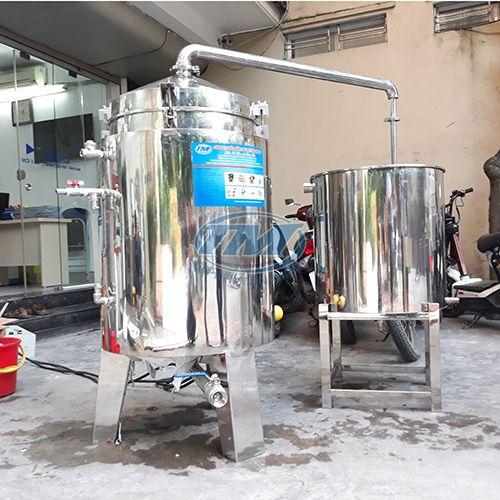 Bộ nồi nấu rượu và trưng cất 70kg/mẻ inox (TMCN-AC14)